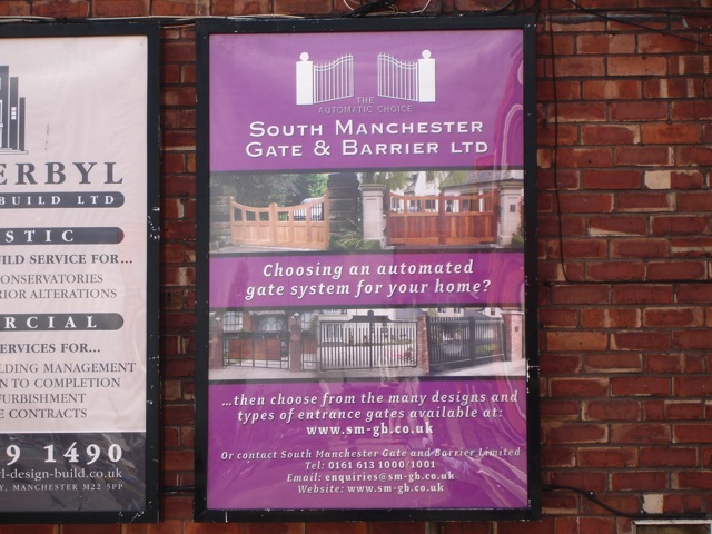 South Manchester Gates Billboard Advertising